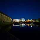 Mareel at night with the reflection by Craig  Meheut