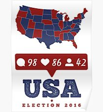 America - USA Presidential Election 2016 Poster