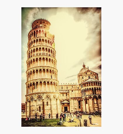Parrocchie di Pisa and Tower Photographic Print