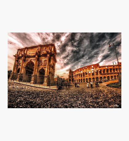 Piazza Del Colosseo Photographic Print