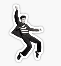 Elvis Falling Sticker