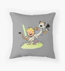 Calvin and Hobbes Star Wars Throw Pillow