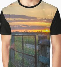 Rural Sunset Graphic T-Shirt