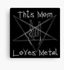 Heavy Metal Mom Canvas Print