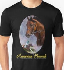 American Pharoah, Triple Crown Winner with Name Plate Unisex T-Shirt