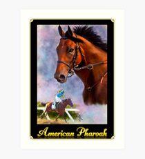 American Pharoah, Triple Crown Winner with Name Plate Art Print