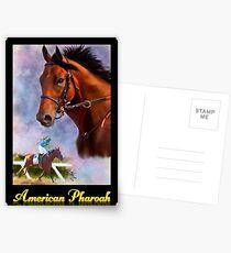 American Pharoah, Triple Crown Winner with Name Plate Postcards