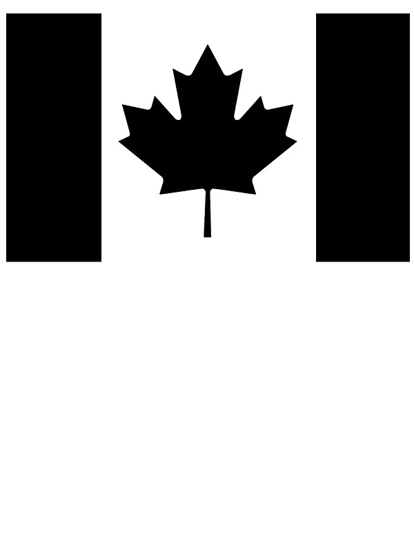 Quot Canadian Flag Black And White Quot Stickers By Bigbadbear