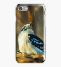 Little Downy Woodpecker In The Woods iPhone Case/Skin