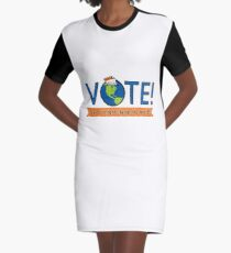 VOTE! Graphic T-Shirt Dress
