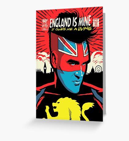 Post-Punk Comics | England Is Mine Greeting Card