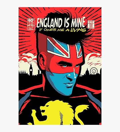 Post-Punk Comics | England Is Mine Photographic Print
