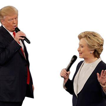 Trump and Clinton by wheresbolivia