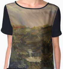Rainstorm - God refreshing and cleaning the earth Chiffon Top