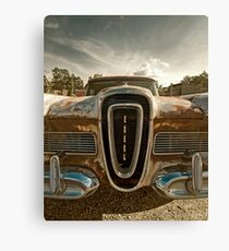 Abandoned 1958 Edsel Bermuda - Grille detail Canvas Print