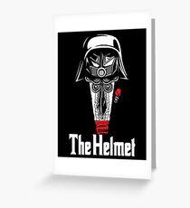 The Helmet-Godfather of the Dark Schwartz Greeting Card