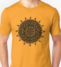 Black Star Mandala Design Unisex T-Shirt