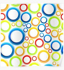 Organic pattern with bubbles Poster