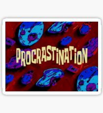 Spongebob Procrastination Time Card Sticker