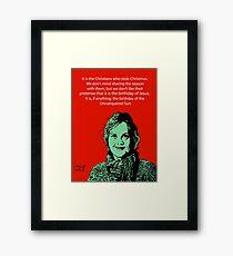 Annie Laurie Gaylor Christmas Framed Print