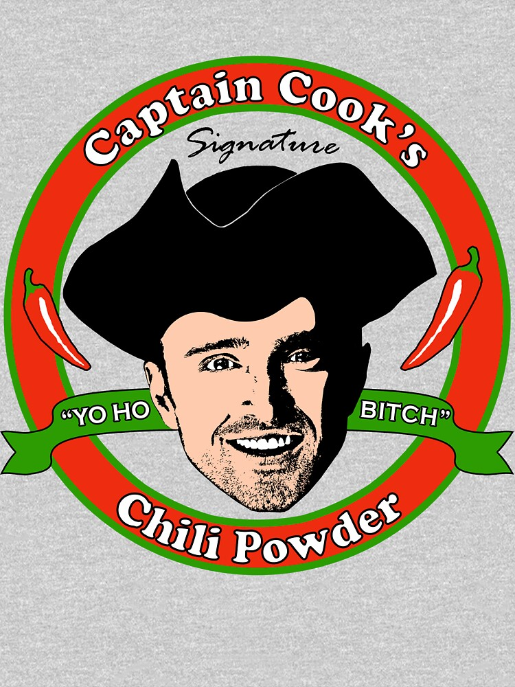 captain cook s chili p pullover hoodie by jaketheviking0 redbubble