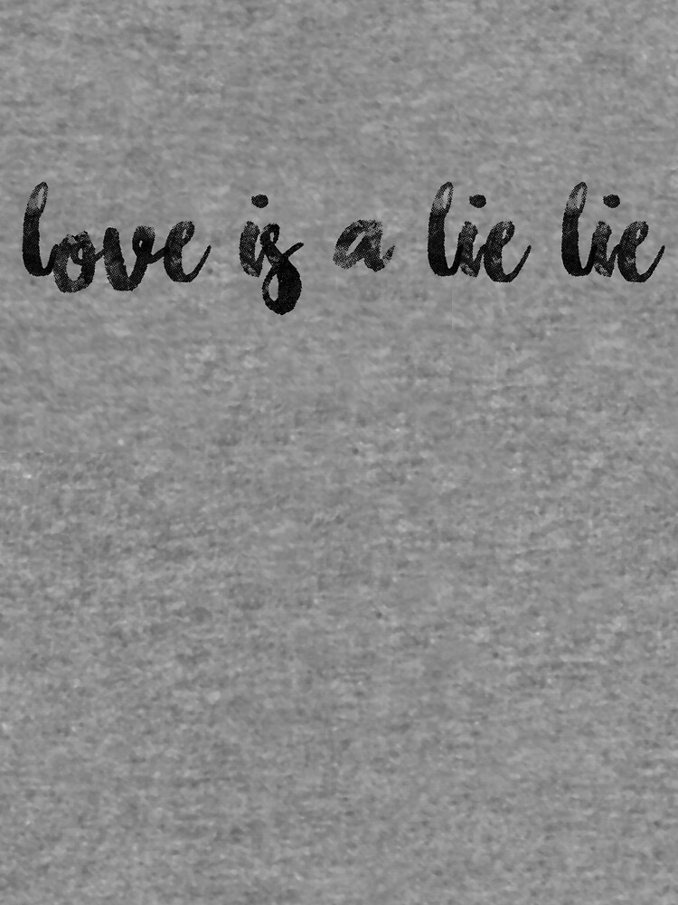 Bts Rap Monster Quote Love Is A Lie Lie Lightweight Hoodie By
