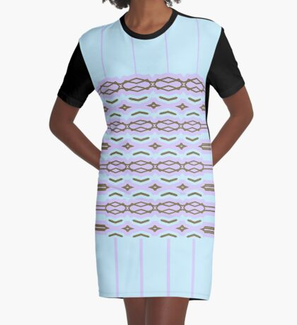 Shape It Cool Tones Graphic T-Shirt Dress