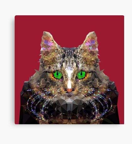 Imperial Boss cat Canvas Print
