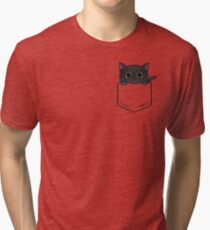 Pocket Meow Tri-blend T-Shirt