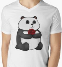 Panda Rose Men's V-Neck T-Shirt