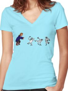 Get outta here you damn dirty apes! Women's Fitted V-Neck T-Shirt
