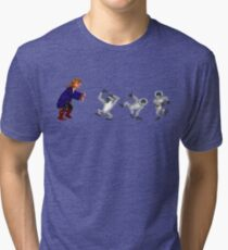 Get outta here you damn dirty apes! Tri-blend T-Shirt