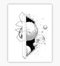 Space Spider B&W Sticker
