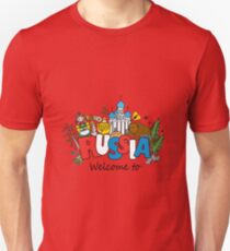 Welcome to Russia. Russian symbols T-Shirt