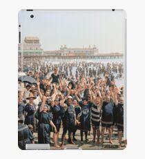 Hands up to the camera! on the beach at Atlantic CIty, NJ, 1905 iPad Case/Skin