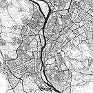 Kairo Karte Grau von HubertRoguski