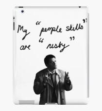 "My ""people skills"" are ""rusty"" iPad Case/Skin"