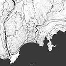 Nizza Karte Grau von HubertRoguski