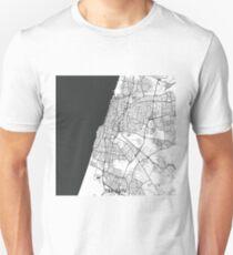 Tel Aviv Map Gray Unisex T-Shirt