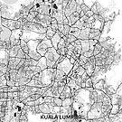Kuala Lumpur Karte Grau von HubertRoguski