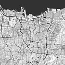 Jakarta Karte Grau von HubertRoguski