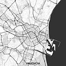 Valencia Karte Grau von HubertRoguski