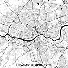 Newcastle upon Tyne Karte grau von HubertRoguski