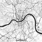Cincinnati Karte grau von HubertRoguski