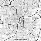 San Antonio Karte grau von HubertRoguski