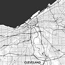 Cleveland Karte Grau von HubertRoguski