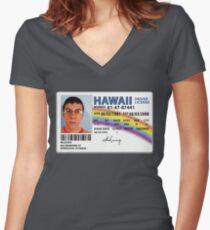 Mc lovin Women's Fitted V-Neck T-Shirt