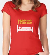 Great in bed Women's Fitted Scoop T-Shirt
