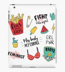 Feminism stickers set iPad Case/Skin
