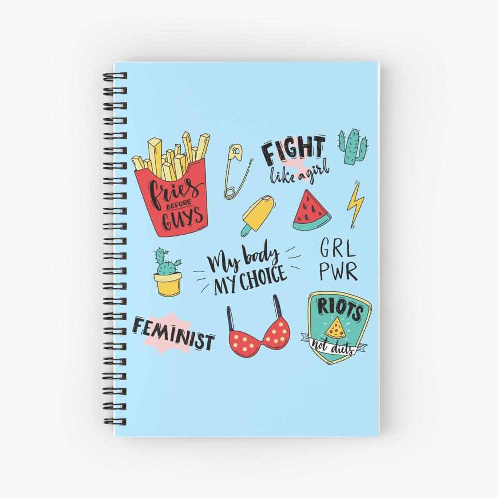 Conjunto de pegatinas de feminismo Cuaderno de espiral